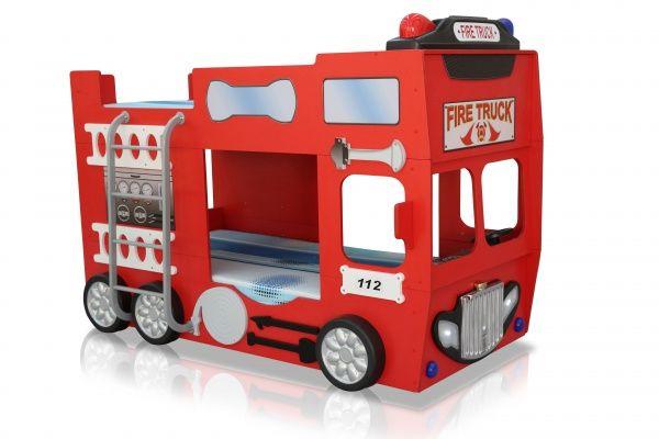 Feuerwehrbett Doppelbett Etagenbett : Feuerwehrbett doppelbett inkl matratze rost freizeit