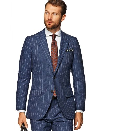 http://chicerman.com suitsupply: A blue pinstripe suit is a ...