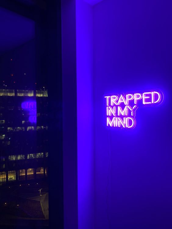 Trapped In My Mind Neon Sign
