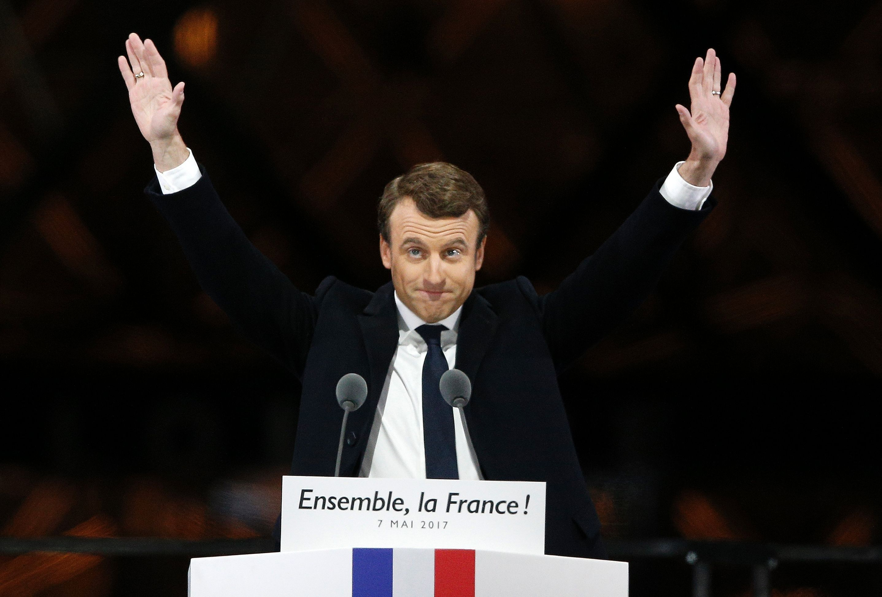 The people have decided, with about 90 percent of votes counted, Macron had 64 percent support; Le Pen had 36 percent. They have decided to put a pro EU man to the highest seat.  #election #EuropeanUnion