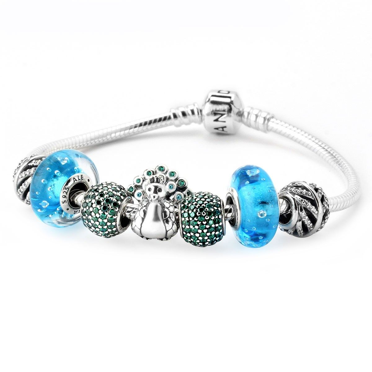A Significant Discount For Pandora Pretty Peacock Charm Bracelet
