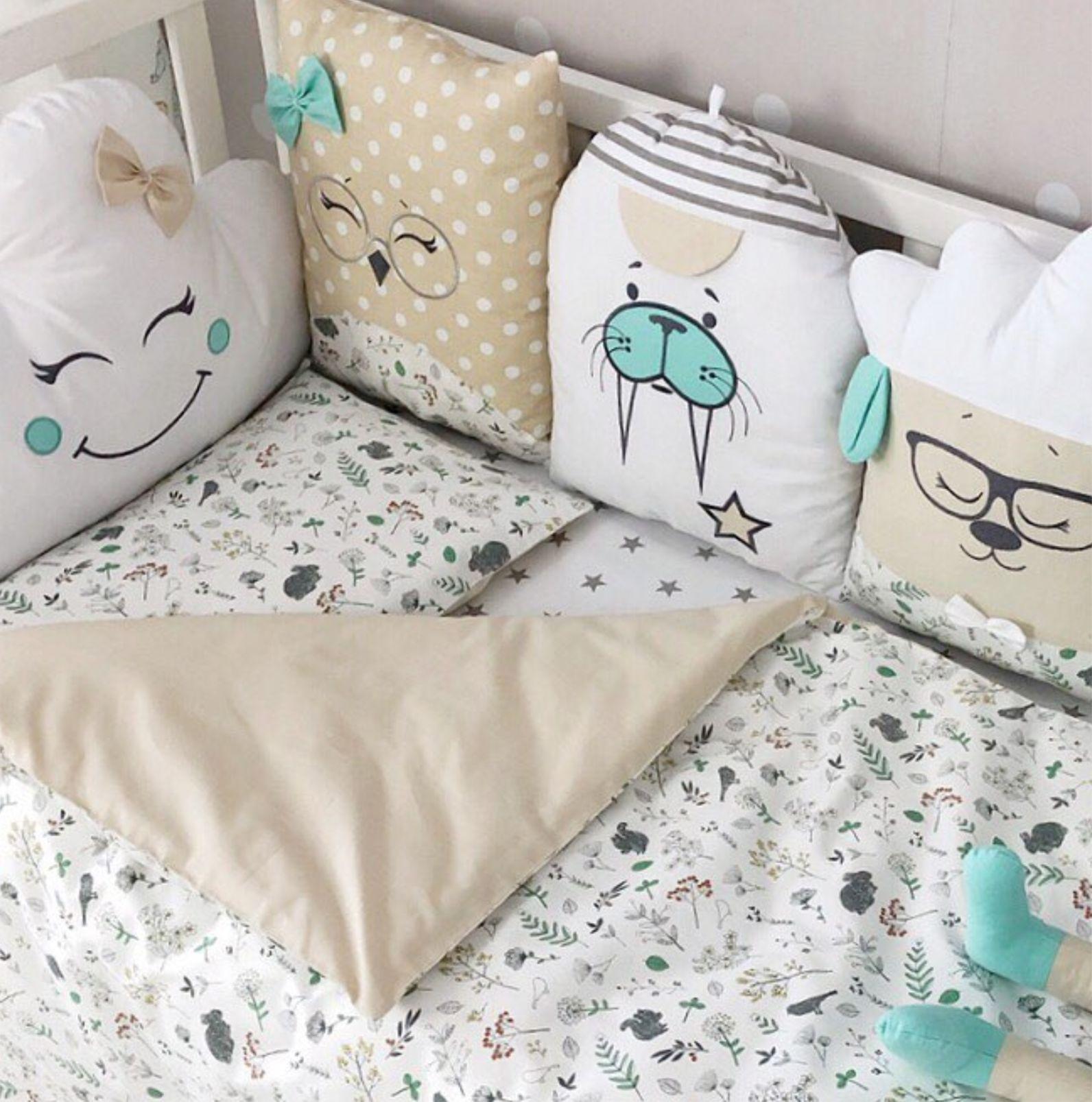 Pillow Bumper Set Baby Boy Crib Bedding Set Nursery Bedding Set