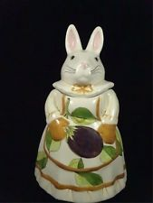 Laurie Gates  Bunny Cookie Jar