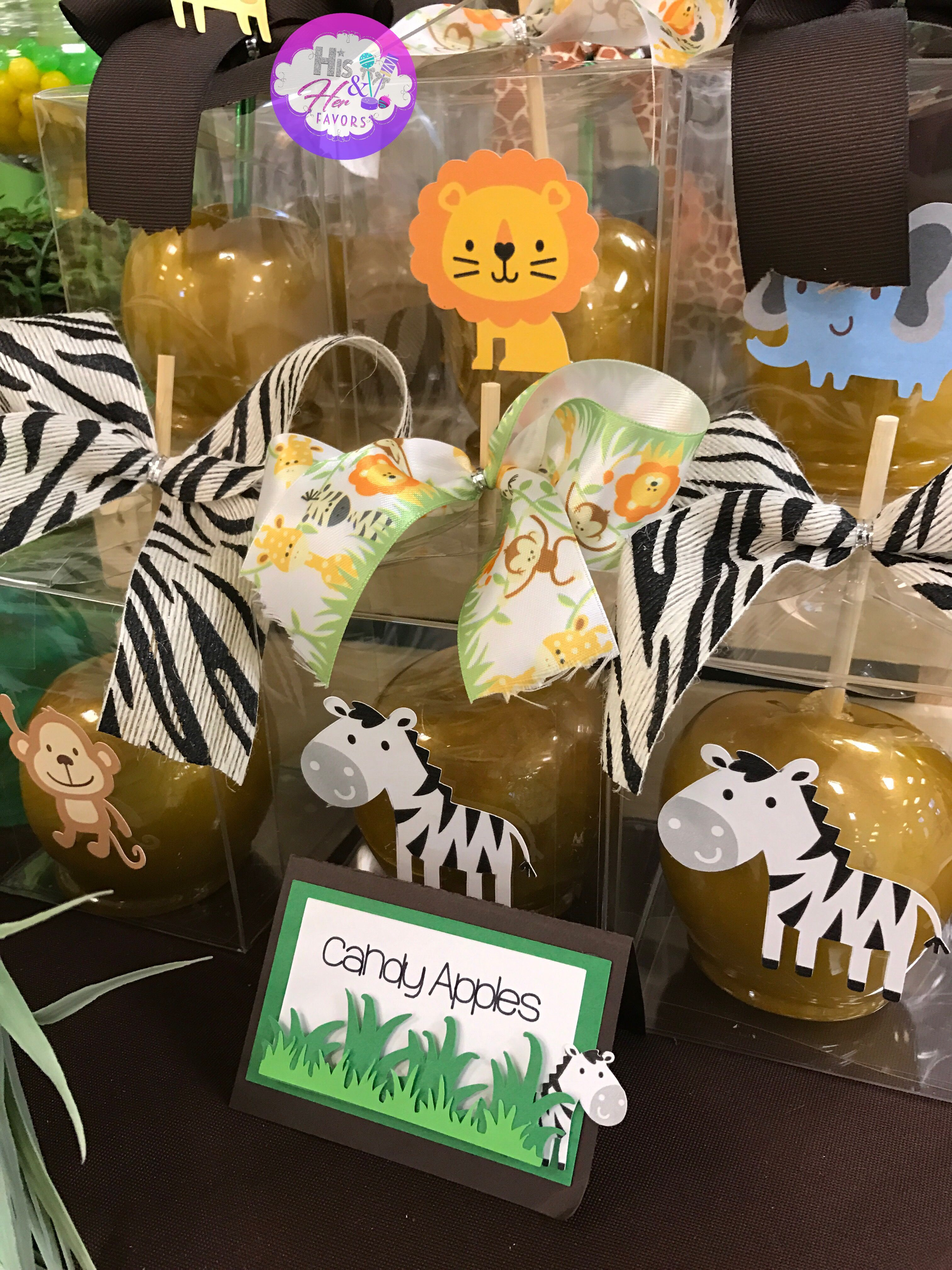 Safari candy apples by Jungle baby