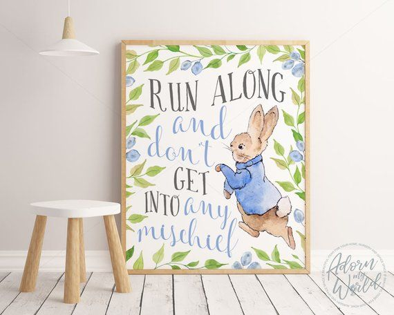 Peter Rabbit Prints Nursery Wall Art Peter Rabbit Nursery
