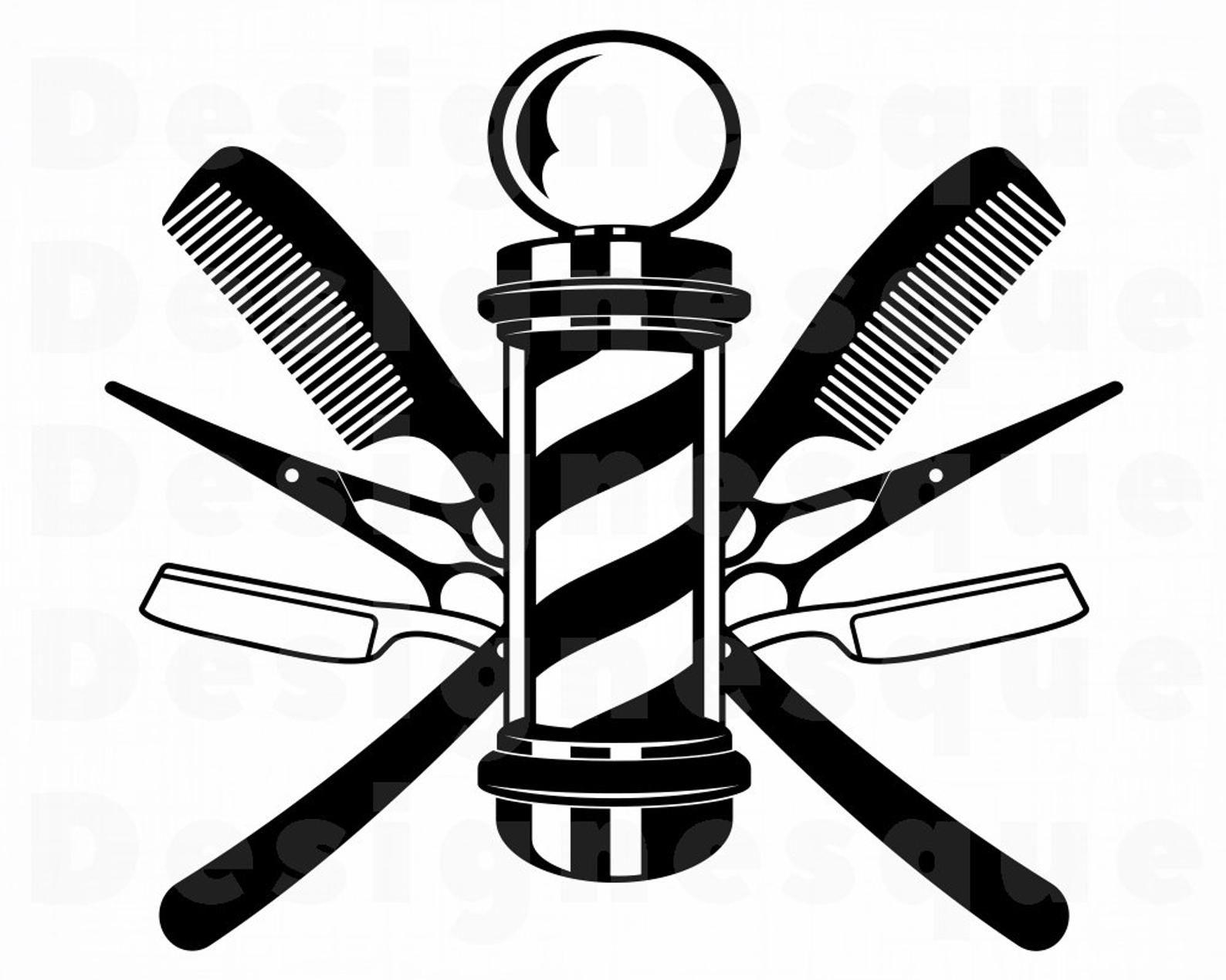 Barber Logo Svg Barbershop Logo Svg Hair Stylist Logo Svg Etsy Barber Logo Hair Stylist Logo Barber Shop