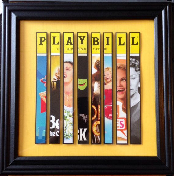 Custom Broadway Playbill Framed Art Collage Personalize It