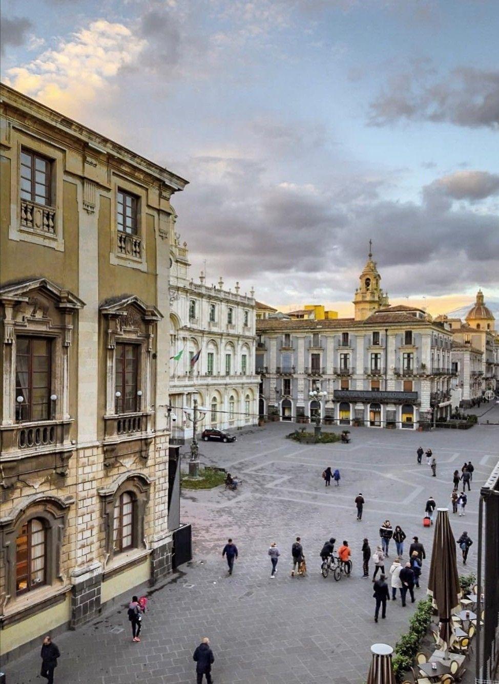 Catania Piazza Universita Sicilia Foto Storiche Luoghi