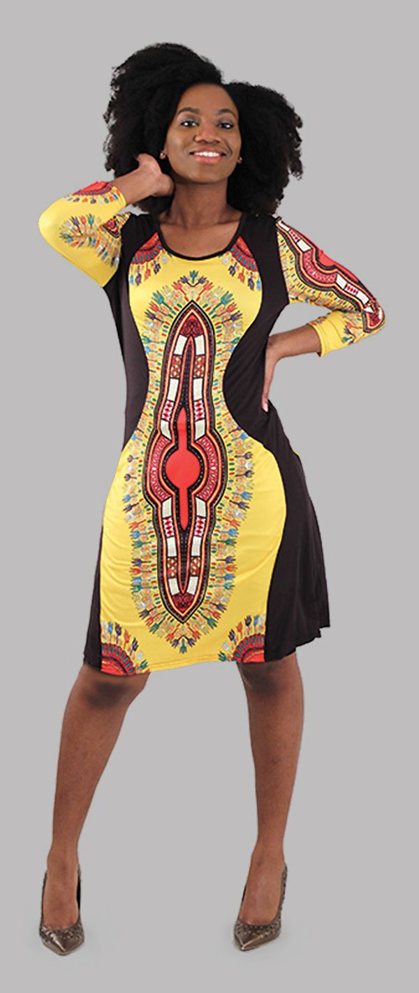 267ac2ffbe01db Traditional African Print Fitted Babydoll Dress - Beautiful fitted dress  that is both comfortable and classy
