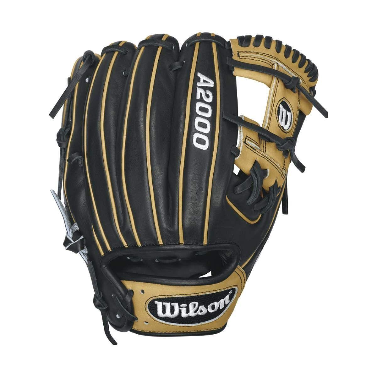"Wilson A2000 1786 Black/Blonde 11.5"" Baseball Glove"