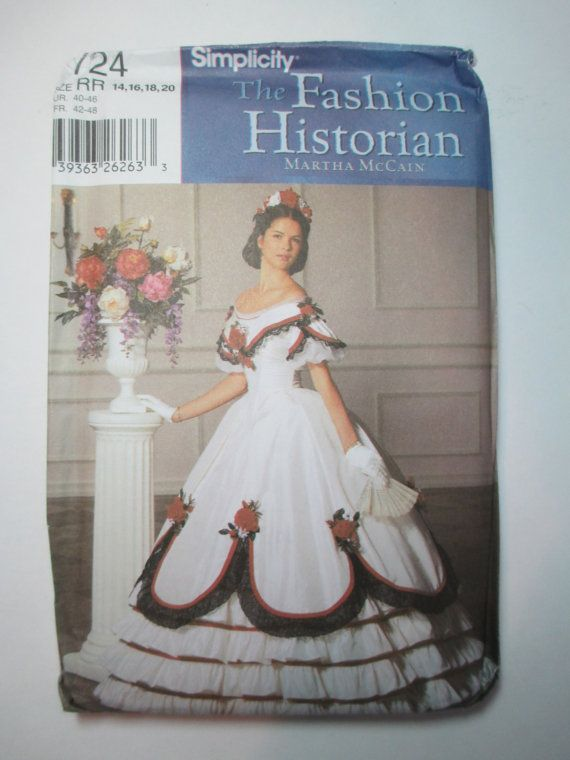 Simplicity 7215 Fashion Historian 1860's Corset and Chemise