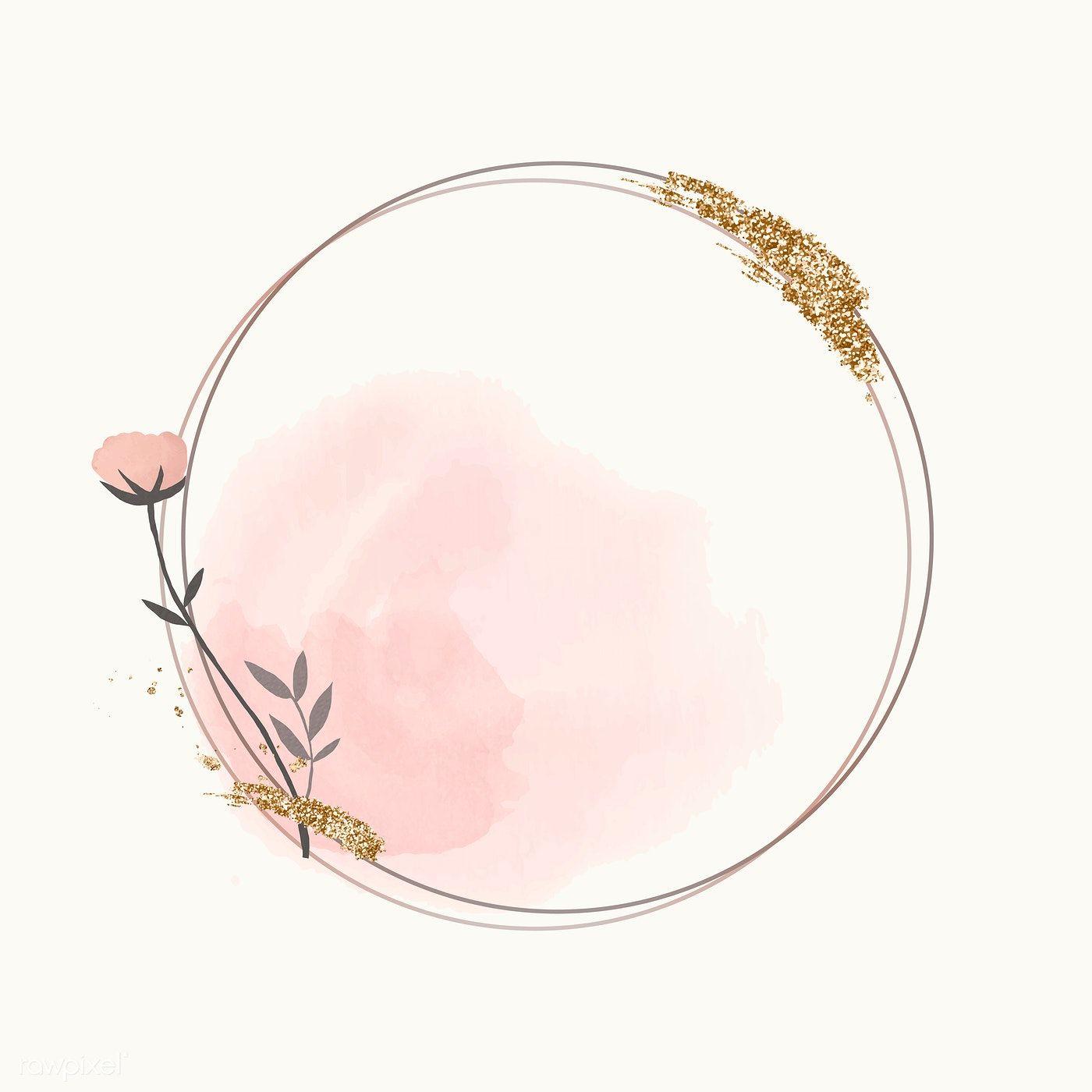 Download Premium Vector Of Blooming Round Floral Frame Vector 1201187 Logo Bunga Bingkai Foto Bingkai Kolase