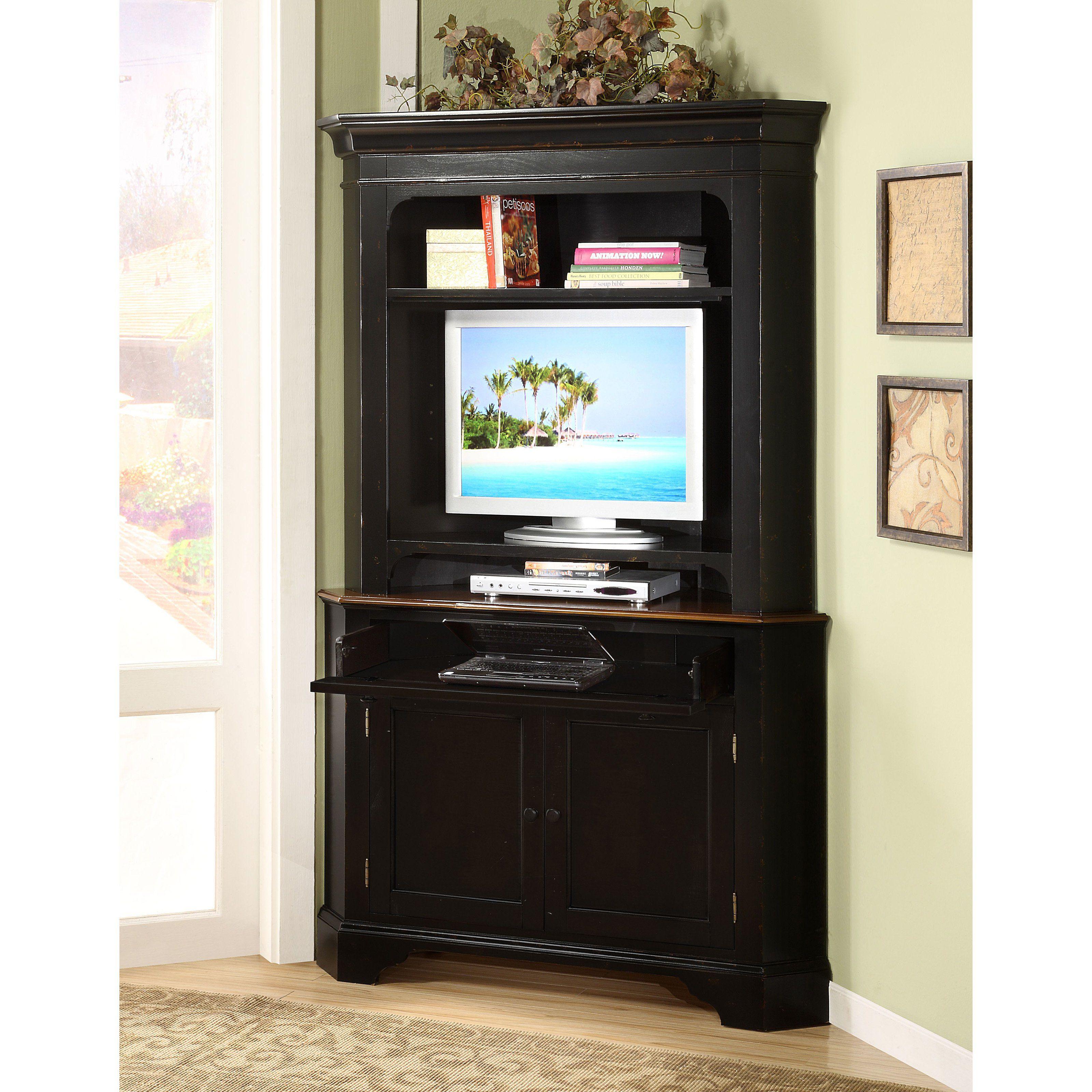 Gentil Computer Armoire For Inspiring Office Furniture Design Ideas: Black Corner  Computer Armoire On Kahrs Flooring