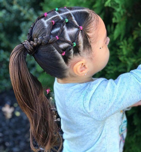 Penteado Com Elasticos Para Criancas Uma Nova Tendencia Neste De 2018 Hair Styles Kids Hairstyles Girl Hair Dos