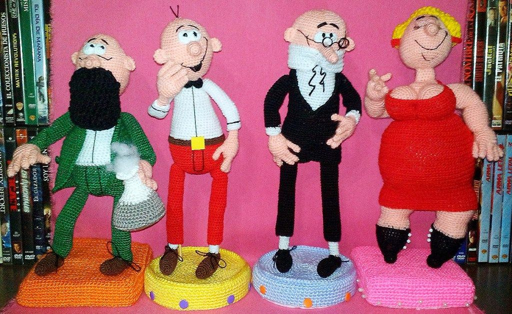 Amigurumi Crochet Personajes : Personajes de mortadelo y filemón en amigurumi amigurumis