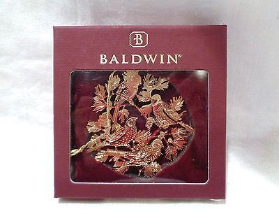 Baldwin 12 Days Christmas Brass 24 Kt Gold Finish Ornament 4 Four Calling Birds Christmas Tree Ornaments Brass Christmas Ornaments Tree Ornaments