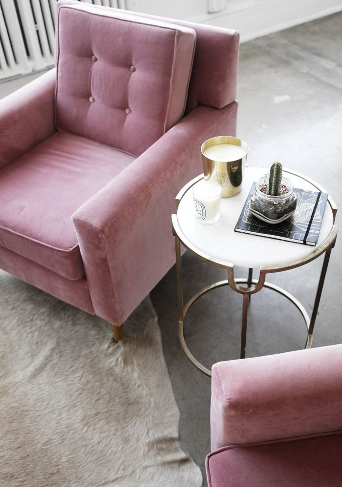 I Do Love Arm Chairs. Normally Not A Big Pink/rose Fan, But I Love This  Subtle Blush Colour.