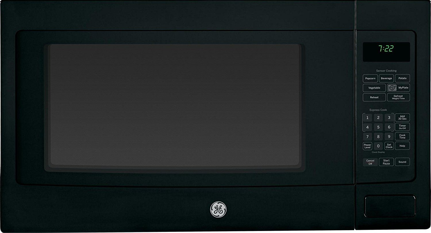Ge Peb7226dfbb Profile 2 2 Cu Ft Black Countertop Microwave