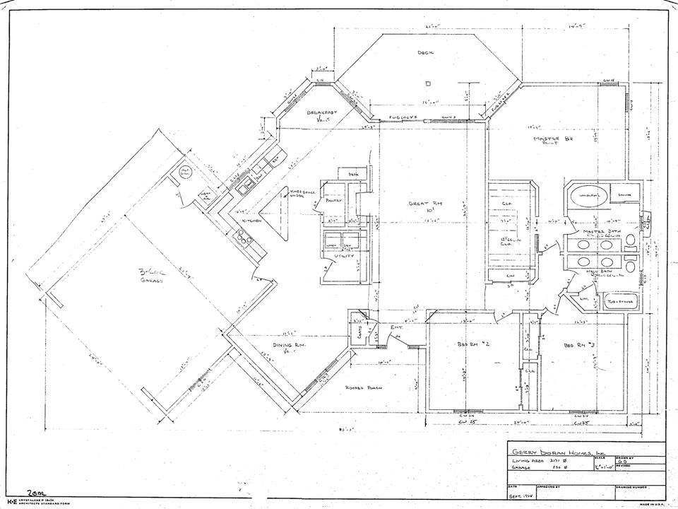 Doran Homes Blueprint