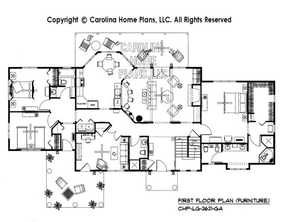 Bs 1613 2621 Ad Furnished First Floor Plan House Plans Open Floor House Plans 3d House Plans
