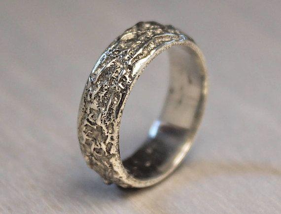 Mountain Ring Organic Wedding Ring Mens Viking Ring Sand Etsy Organic Wedding Ring Rock Rings White Gold Engagement Rings