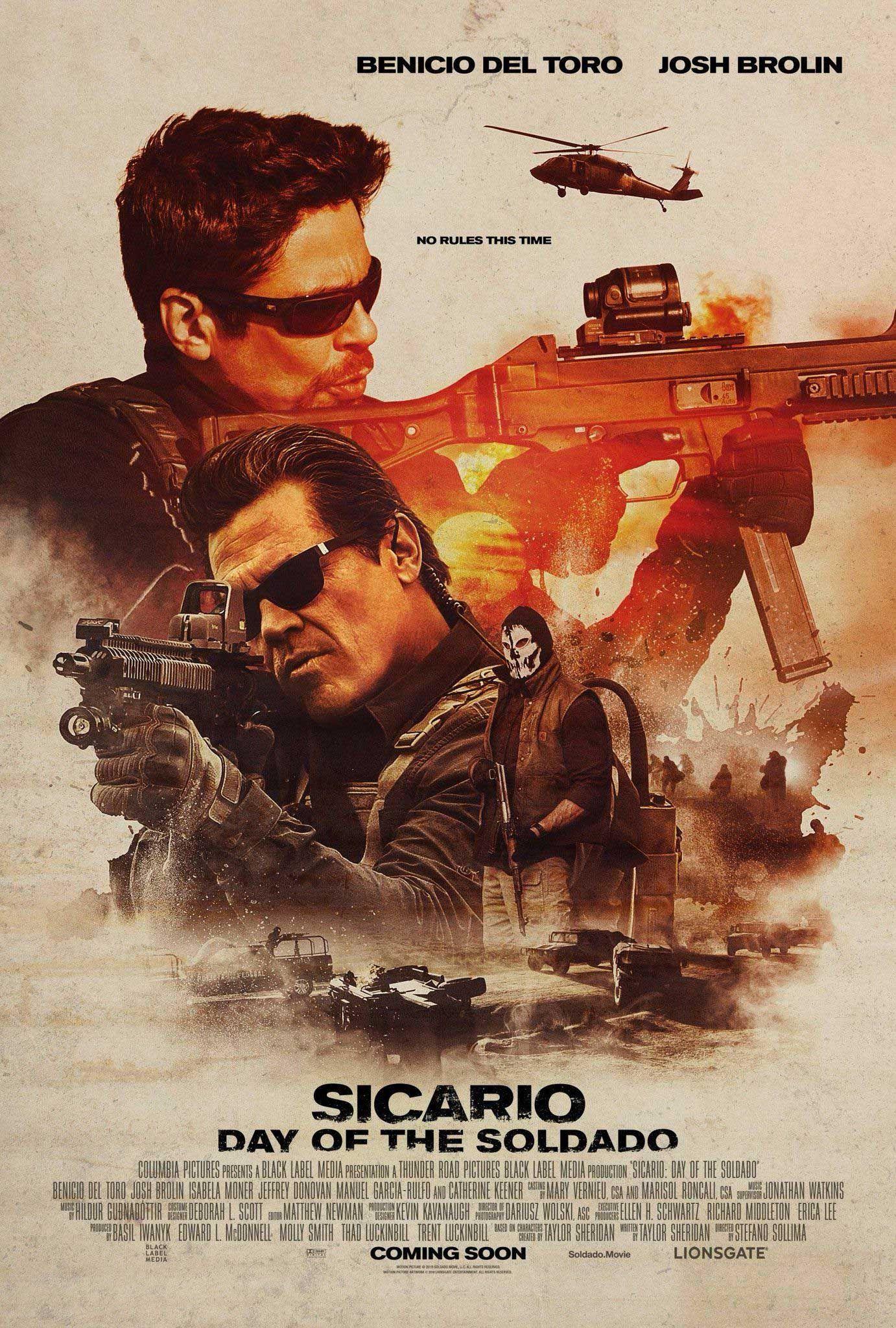 Sicario Day Of The Soldado Poster Hd Sicario Soldado Pelicula