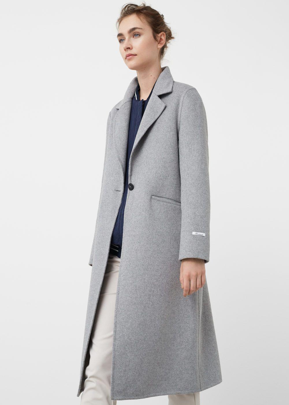 Abrigo lana handmade Abrigos de Mujer | MANGO España
