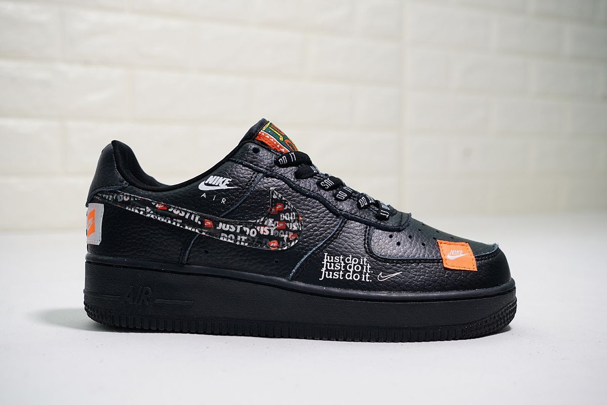 Nike Air Force 1 07 Premium Just Do It Black Total Orange