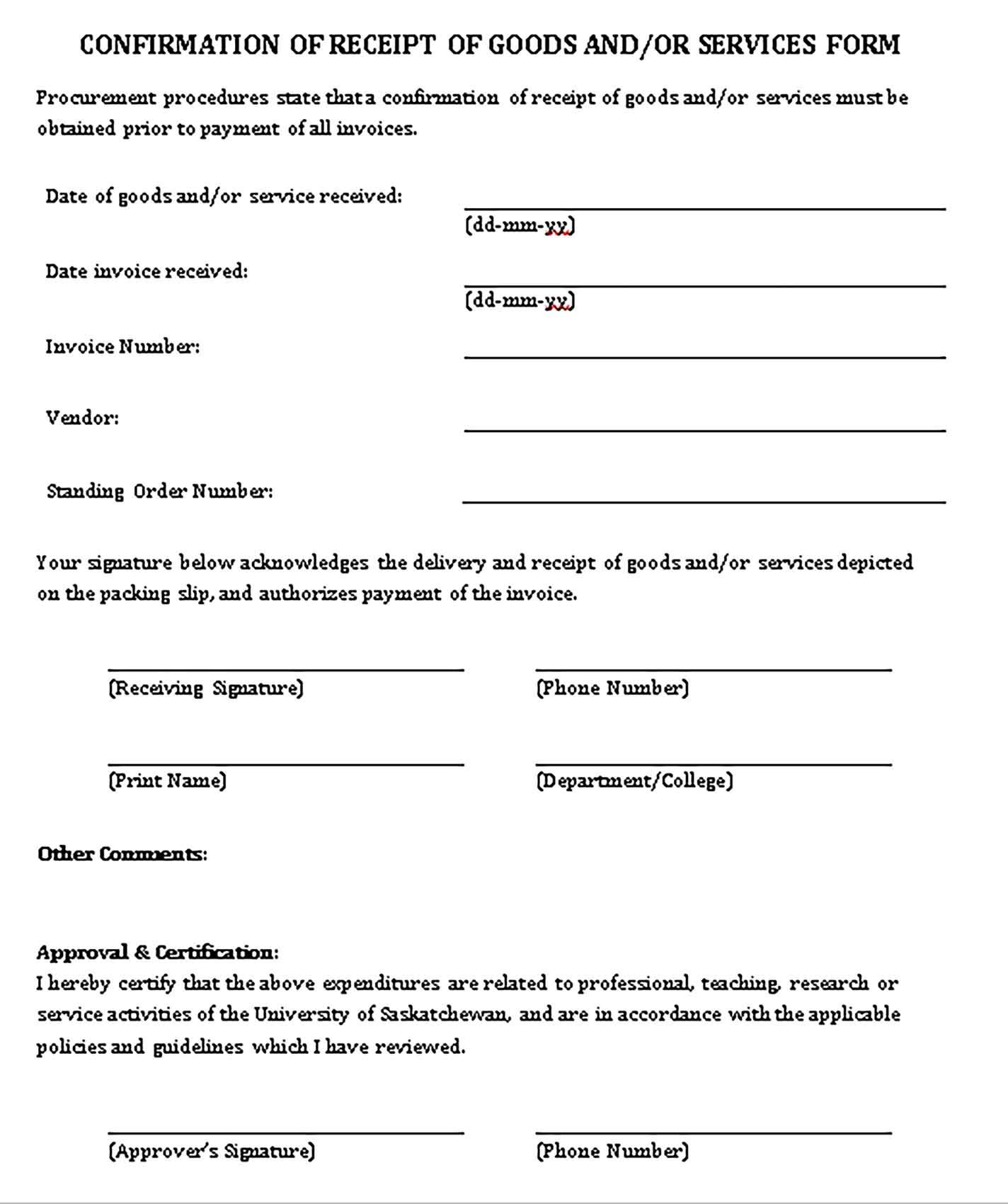 Printable Free Business Receipt Templates