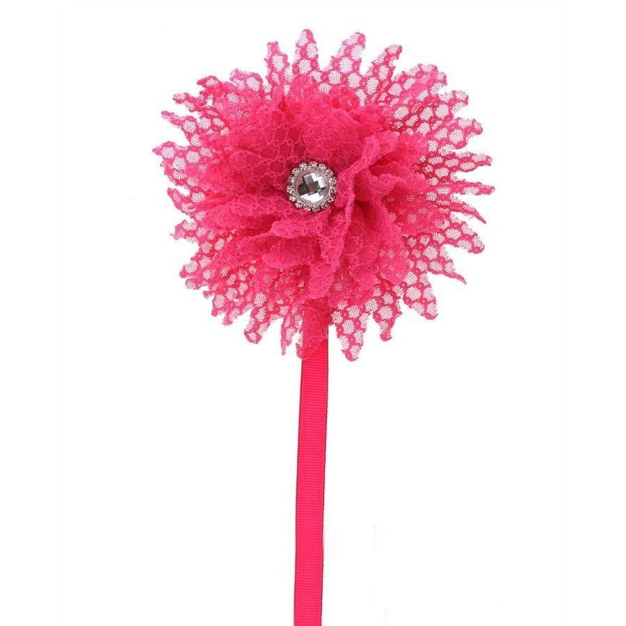 Crystal Dream Flower Pacifier Clip