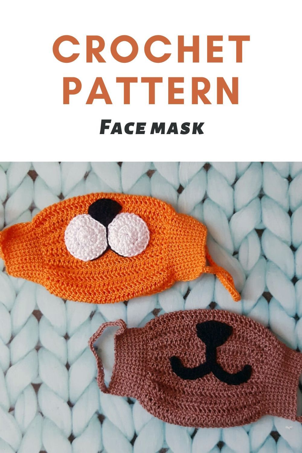 Crochet pattern face mask Allergy mask tutorial Cotton mask for adult pattern Crochet mask DIY mask