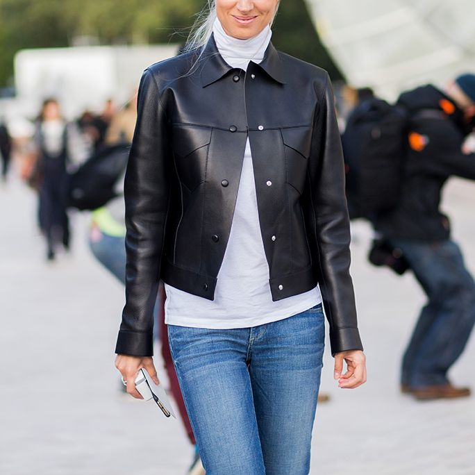7 Surprising New Ways to Style a Turtleneck - Under a Collared Jacket  - from InStyle.com