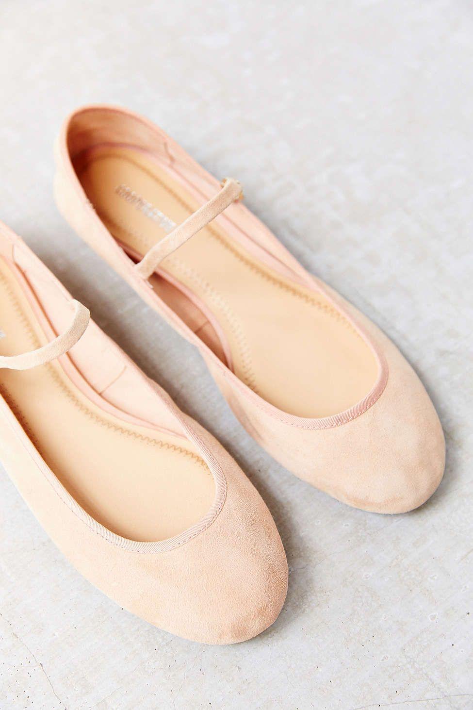 Ballett Flache Schuhe Nike Mary Jane Leder, Nike, Ballett