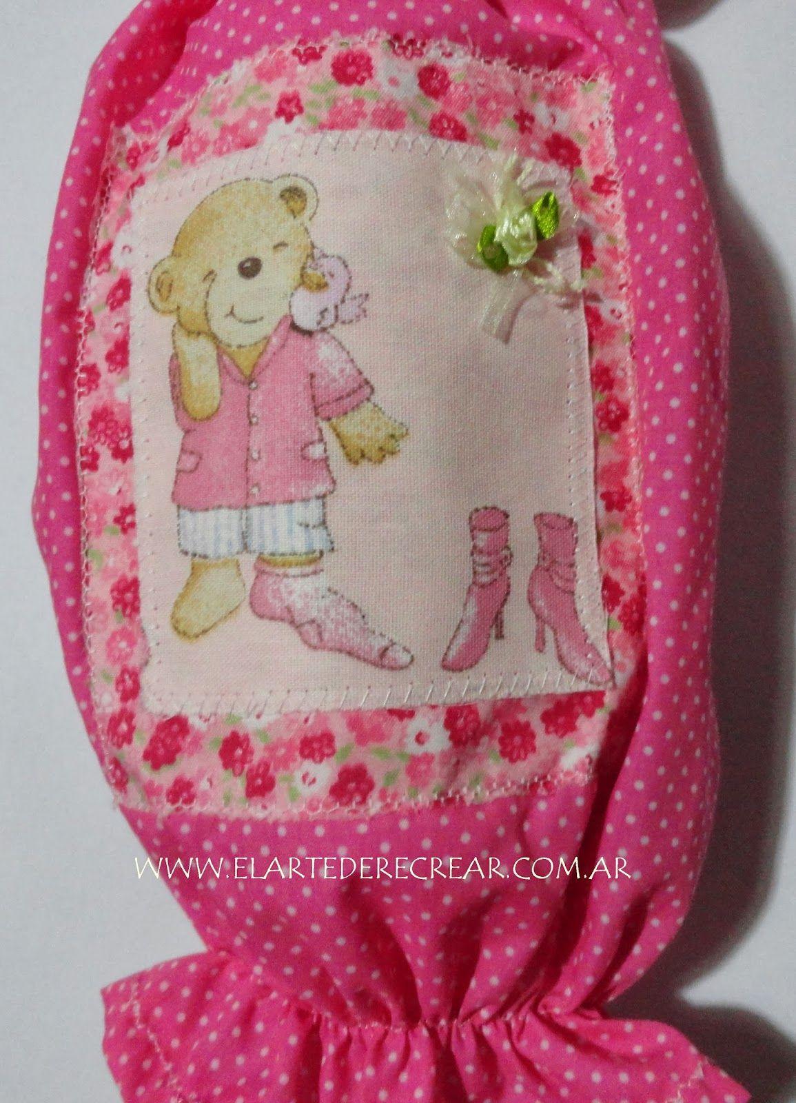 Recrear manualidades arte guarda bolsa de tela para - Bolsas de tela manualidades ...