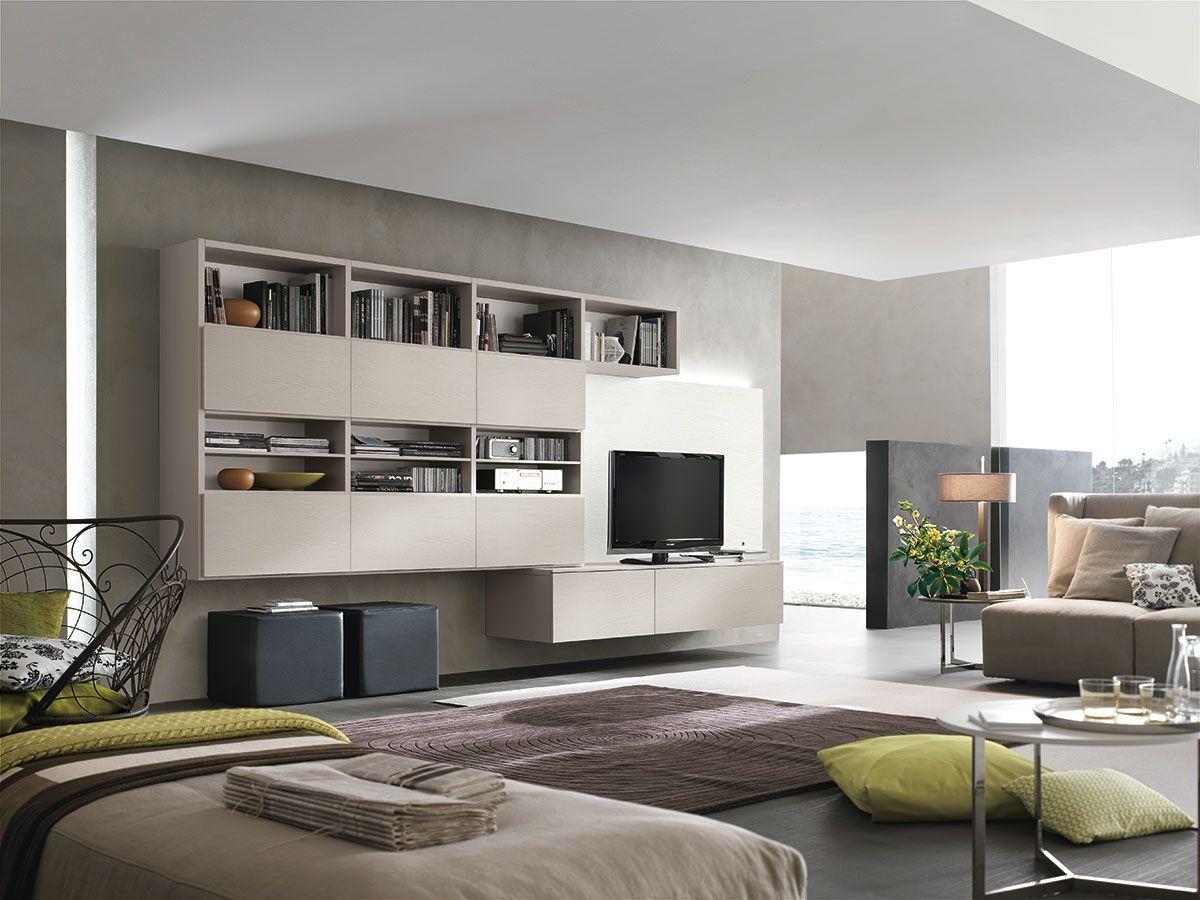 Parete attrezzata per #soggiorno moderno Atlante C307 ...