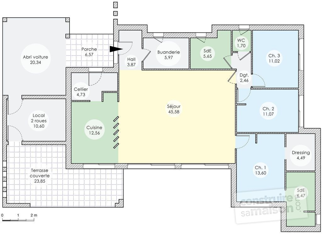 Une Contemporaine Conviviale  Plans Maison Plans Et Contemporain