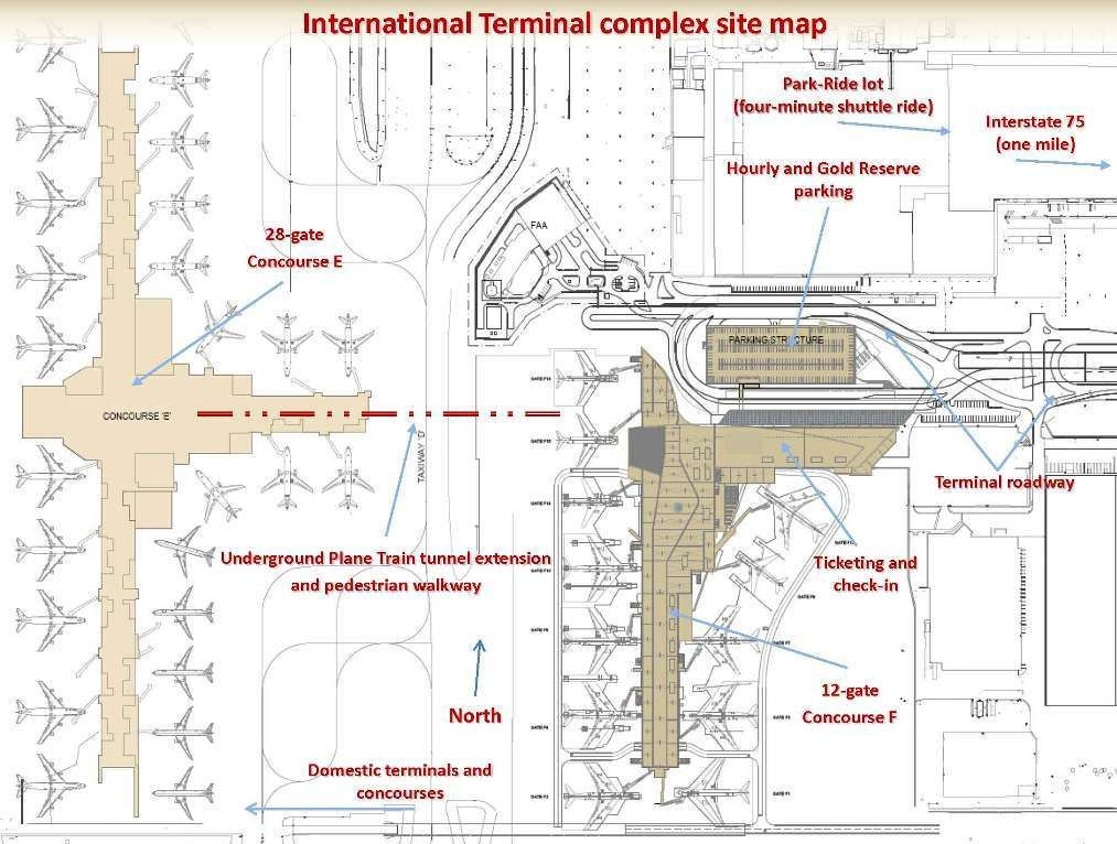 This is a site map for Atlantas new international terminal