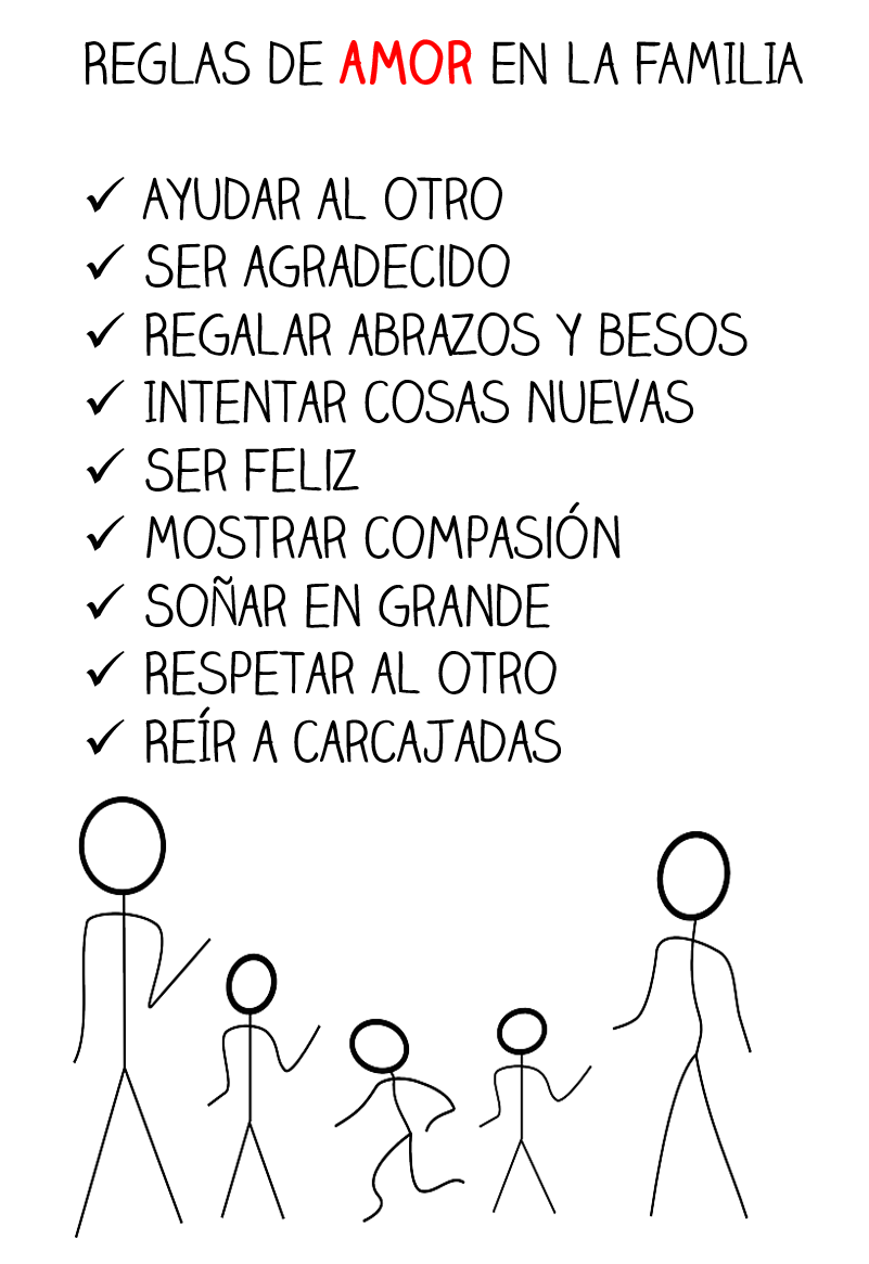 Lecciones Para Amar Reglas De Amor En La Familia Frases