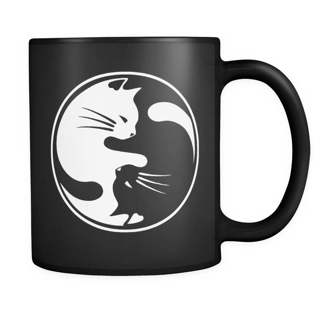 Yin Yang Cats The Good Luck Charm Mug Mugs, Cat mug
