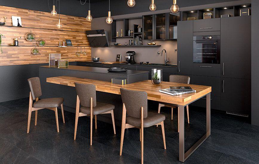 Ambiance Black Cuisine Moderne Cuisines Maison Et Cuisine
