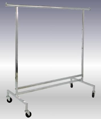 adjustable height clothing rolling racks commerical grade for retail stores