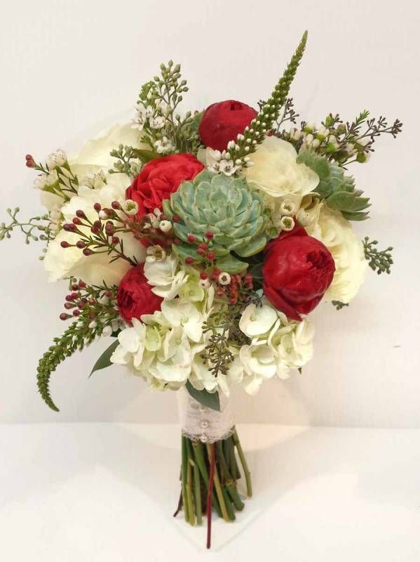 Calgary Wedding Flowers Dahlia Floral Design Bridal Bouquet Florist Red Ivory Mint Green Succulent Rustic Natural
