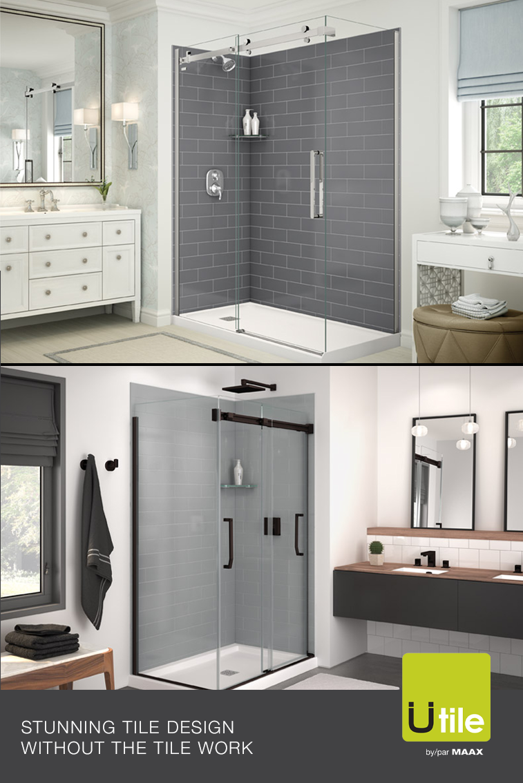 With Our Utile Shower Wall Panels You Can Have The Tiled Look Of Your Dreams In No Time Without The Mess And Shower Wall Panels Shower Wall Stone Tub Shower