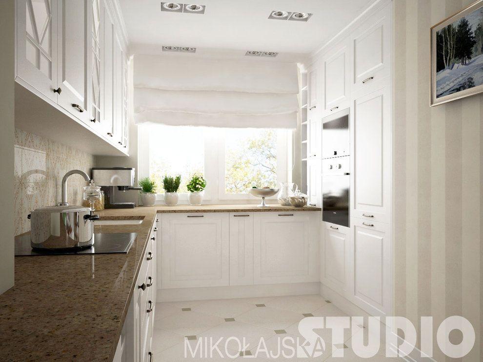 kuchnia , biały , blat , zabudowa , biała podłoga