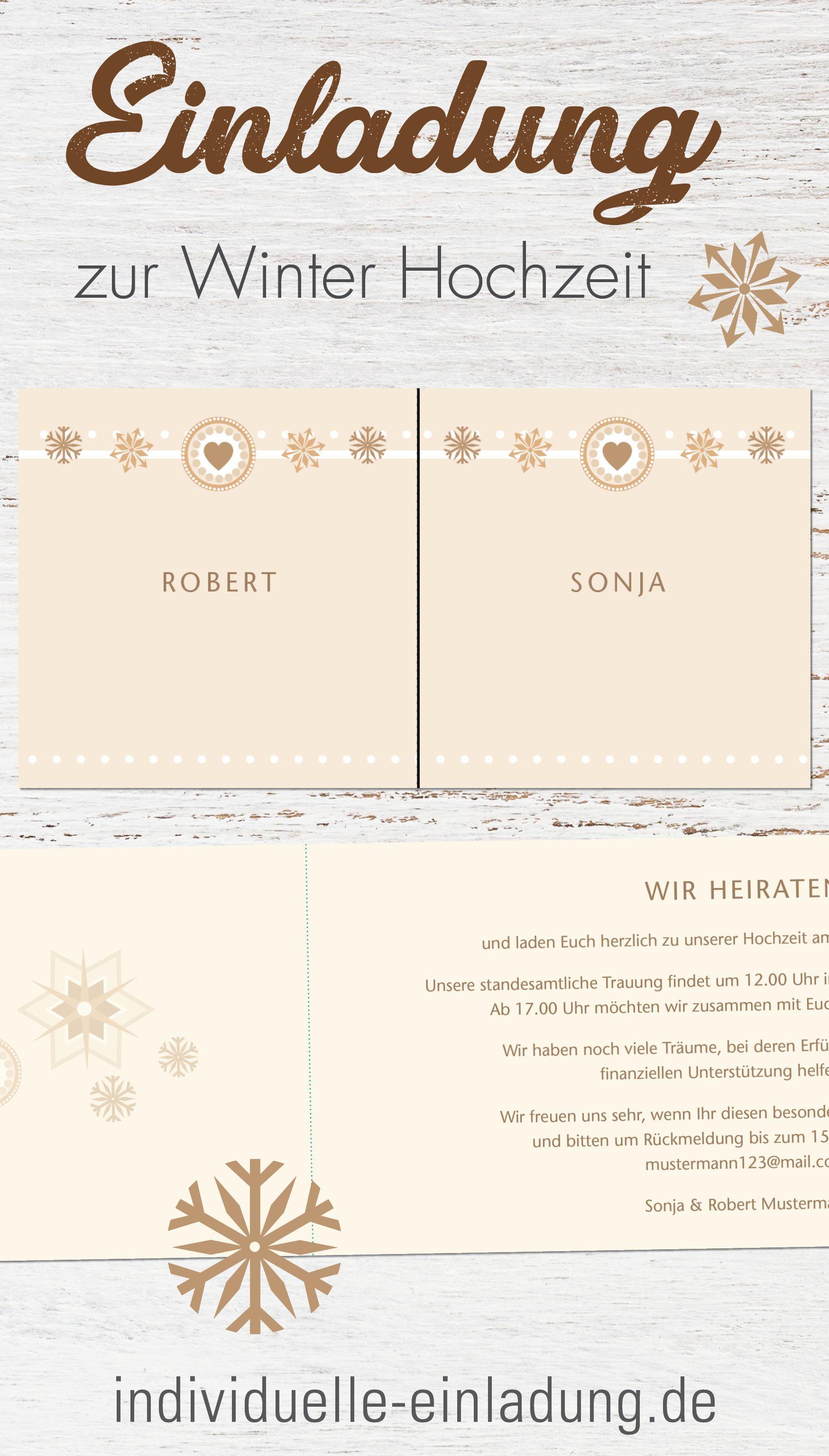 Einladung zur Winter Hochzeit   Einladungskarten hochzeit, Einladungen, Einladungskarten