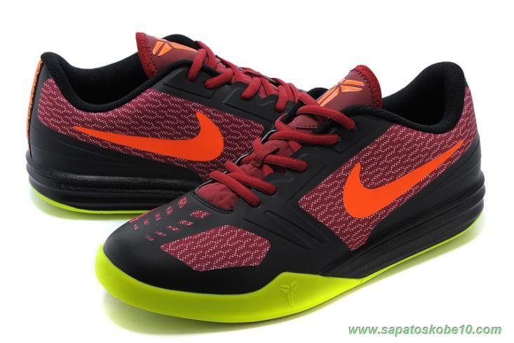 tenis barato de marca Vermelho / Preto / Verde Nike KB Mentality 704942-601 Masculino