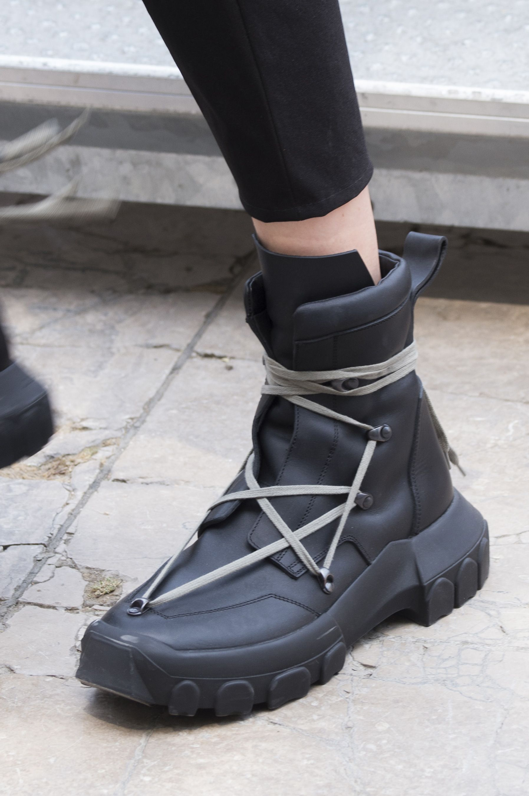Boots for Men, Booties On Sale, Black, Wool, 2017, 7 Rick Owens