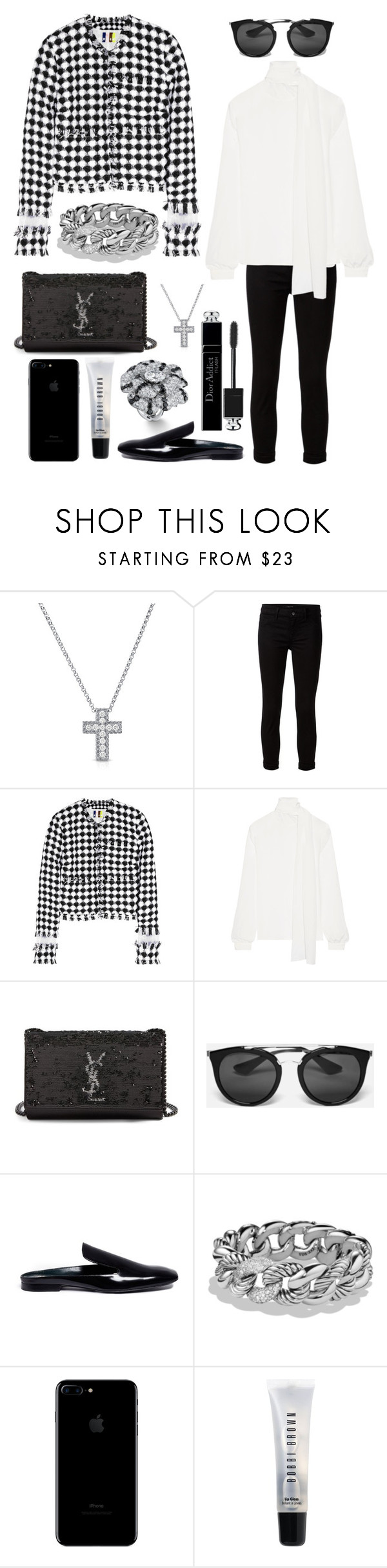 """The world is yours 🌎"" by theodor44444 ❤ liked on Polyvore featuring Roberto Coin, J Brand, MSGM, Yves Saint Laurent, Prada, Mulberry, David Yurman, Bobbi Brown Cosmetics and Christian Dior"