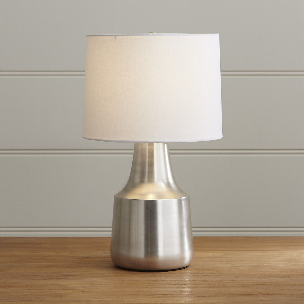 shop avery table lamp gleaming nickel finished iron lamp sheds