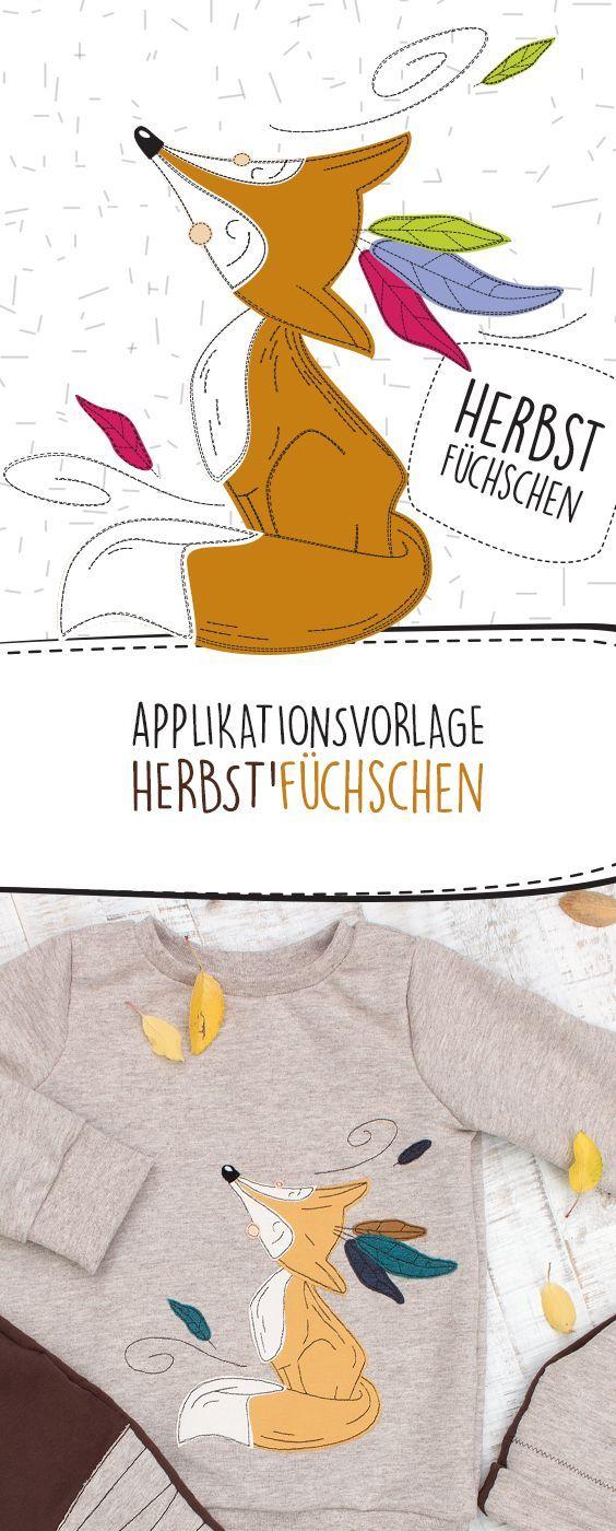 HERBST'FÜCHSCHEN Applikationsvorlage » PDF eBook #babykidclothesandideas